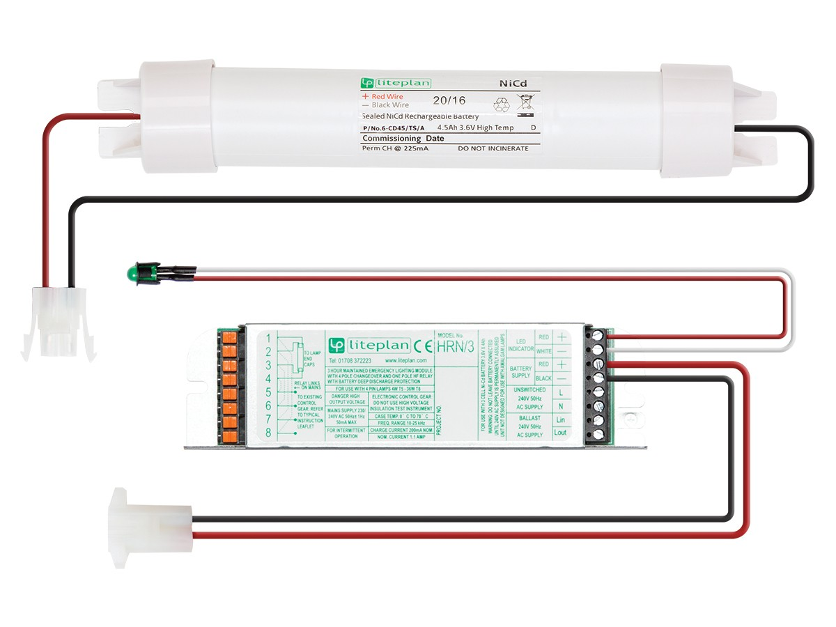 Hrn T5 Conversion Kits Liteplan Emergency Lighting Specialists Ballast Wiring Diagram 3 Hour