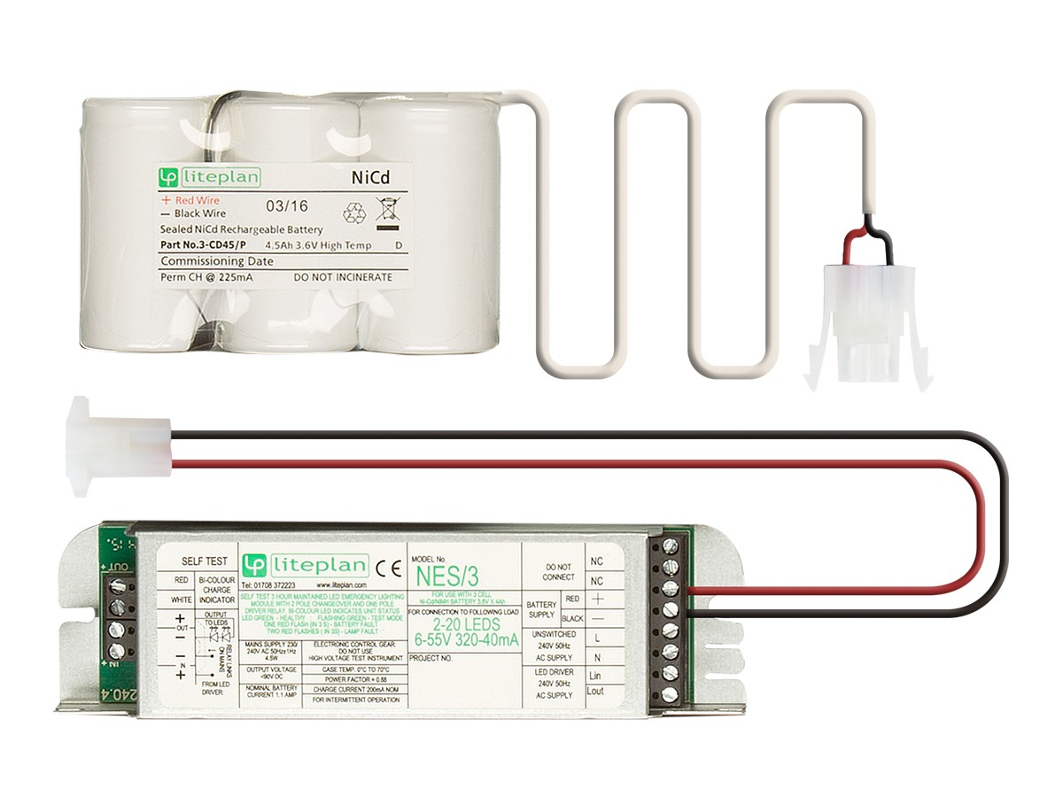 Conversion Kits For Led Loads Liteplan Emergency Lighting Ledindicatorforremoteacloads Nes Self Test